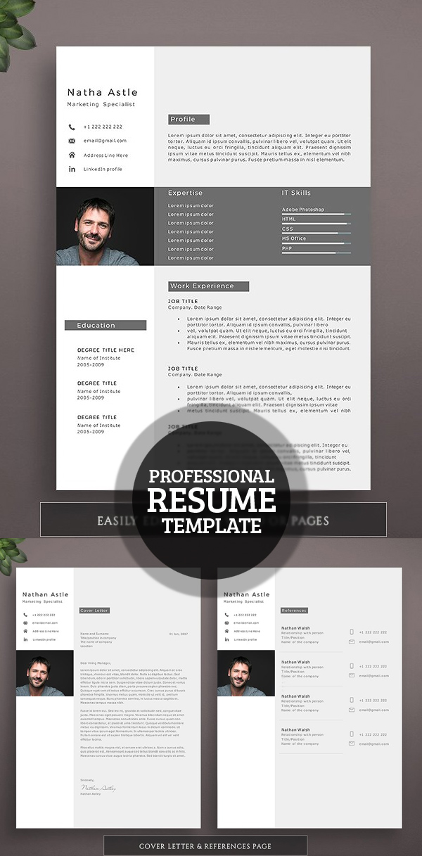 50 Best Resume Templates For 2018 Design Graphic Design Junction - professional resume 2018