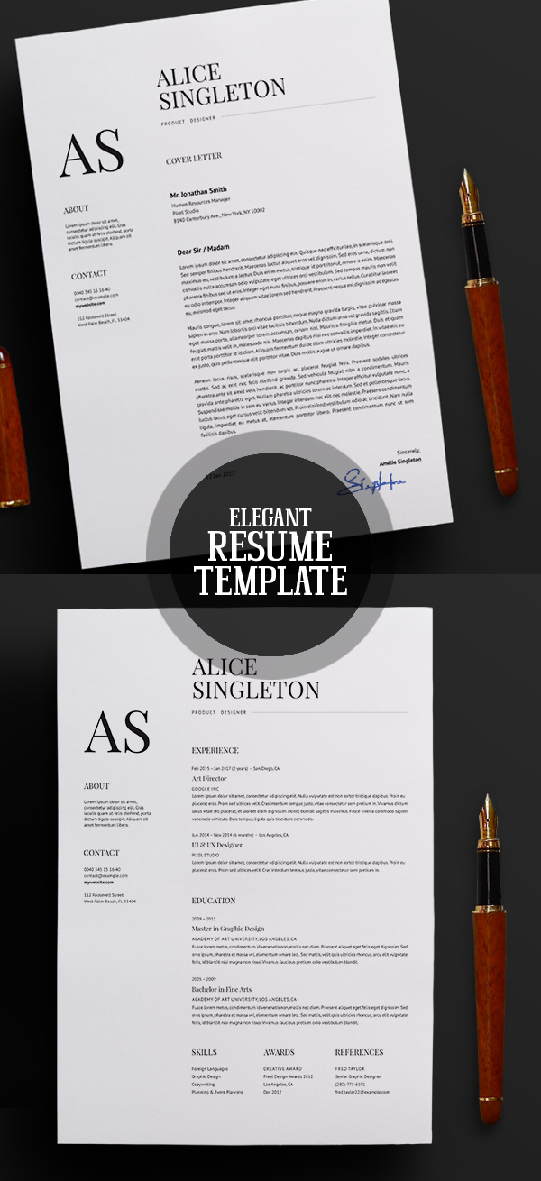 50 Best Resume Templates For 2018 Design Graphic Design Junction - design resume template