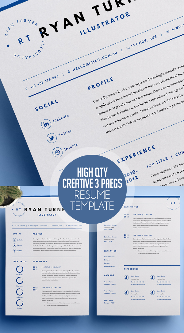50 Best Resume Templates For 2018 Design Graphic Design Junction - Best Template For Resume