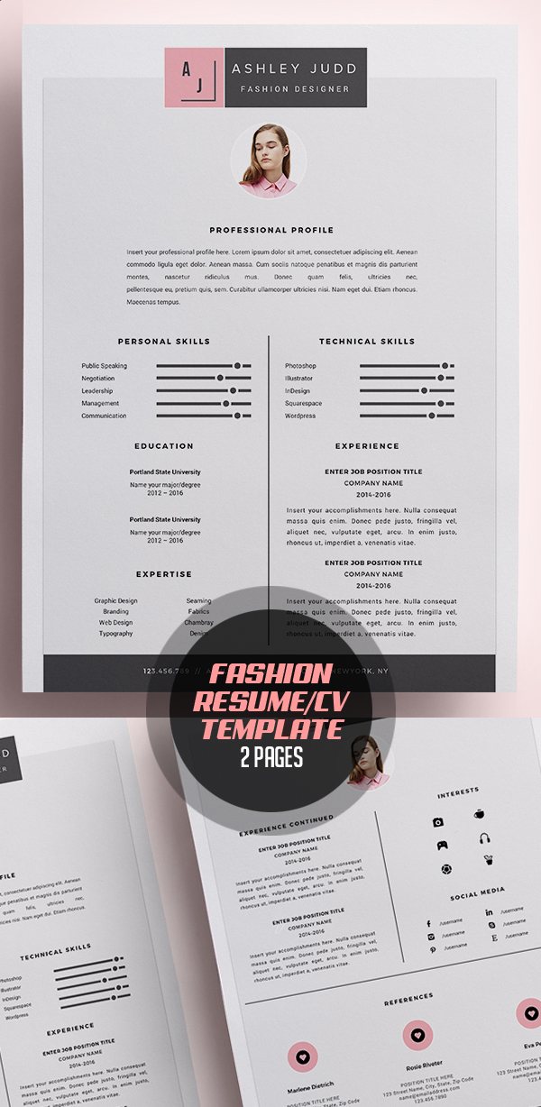 50 Best Resume Templates For 2018 Design Graphic Design Junction - graphic design resume template