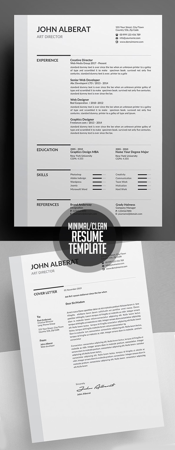 clean 2018 resume template