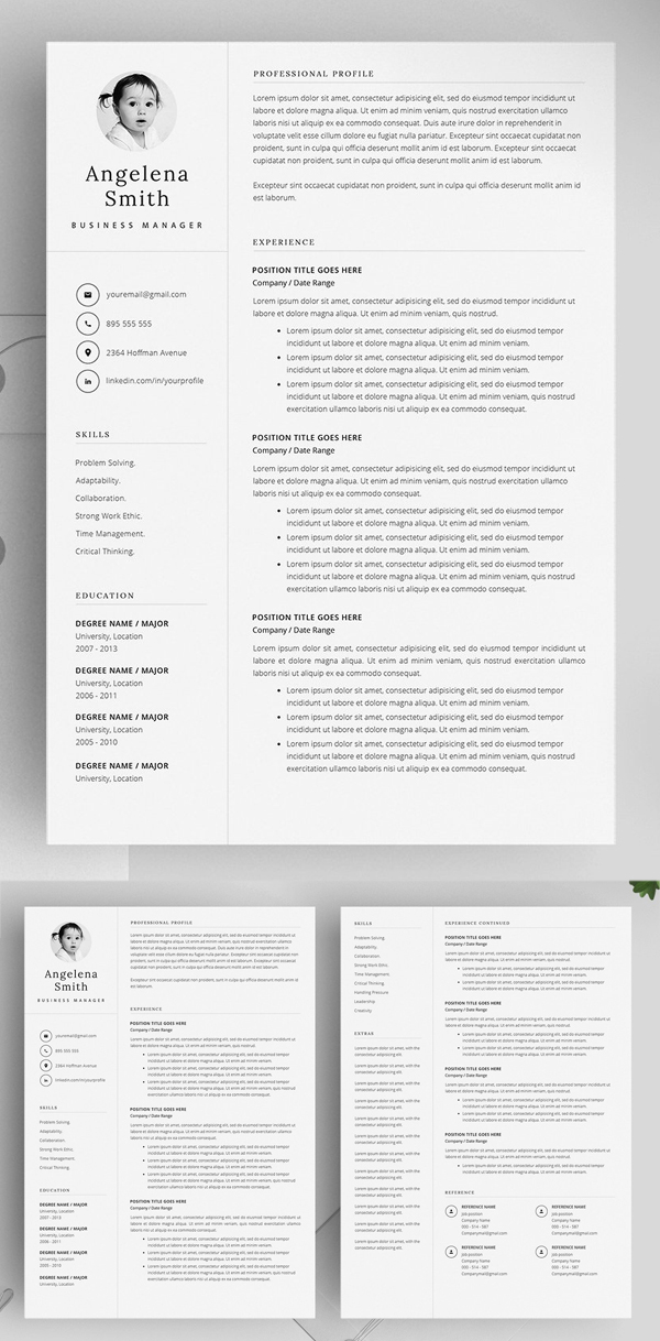 rich text document templates resume
