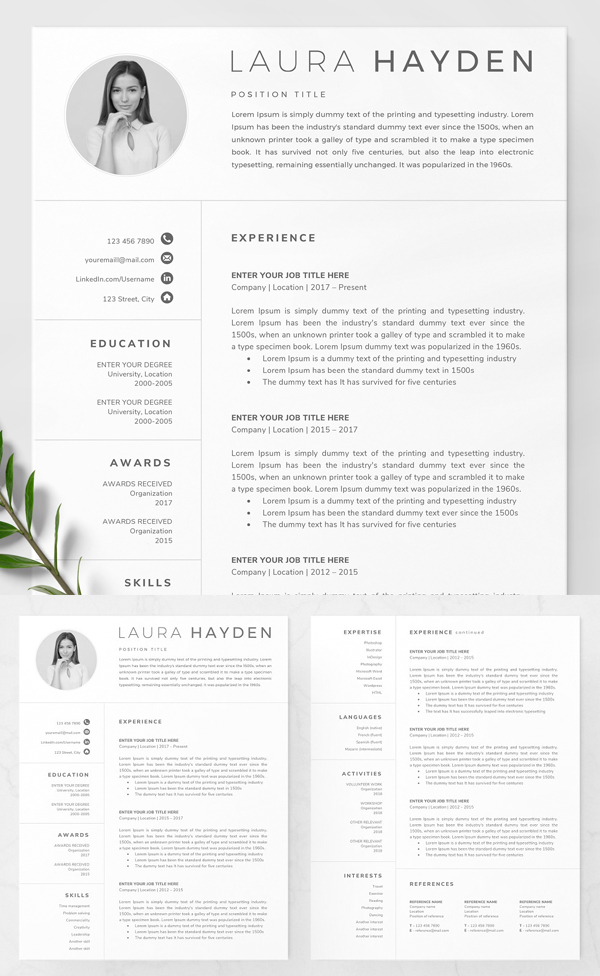 elegant resume template word download