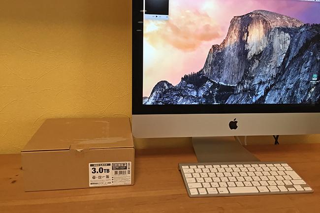 iMac 3.0TB HDD I-O DATA HDC-LA3.0