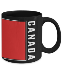 Canada Flag | Coffee Tea Mug | Canadian Pride | Black ...