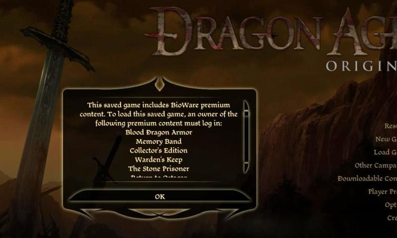 Dragon Age DLC Error