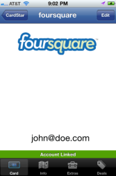 Gear Diary Loyalty Card App Cardstar Now Features Foursquare Check In, Backup and Restore photo