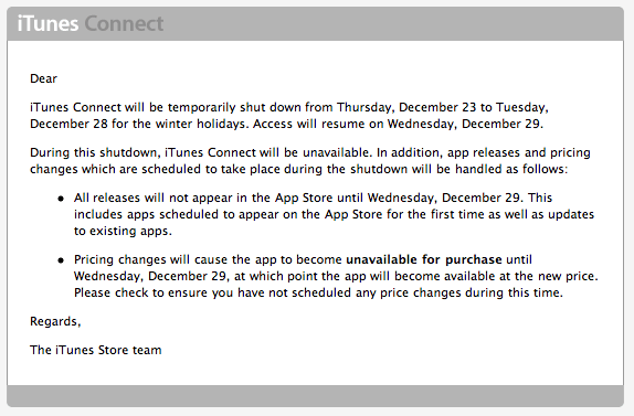 No iTunes App Store Updates