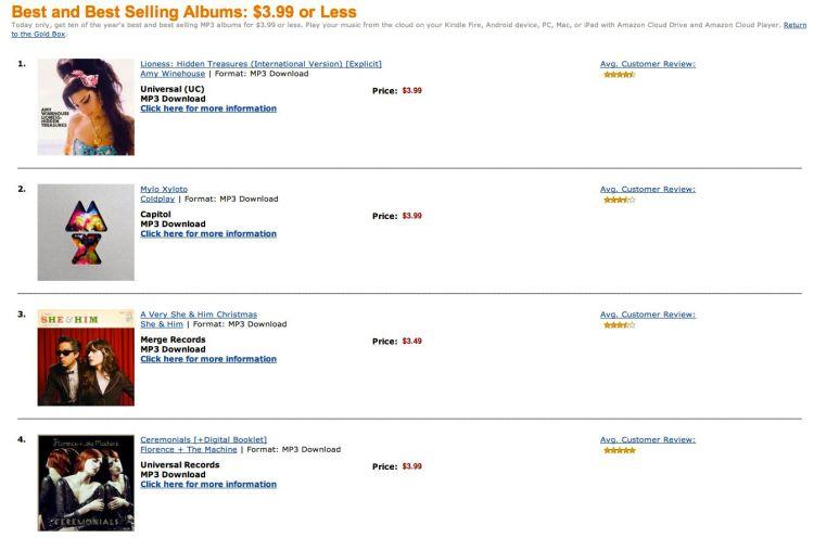 Amazon MP3 Sale