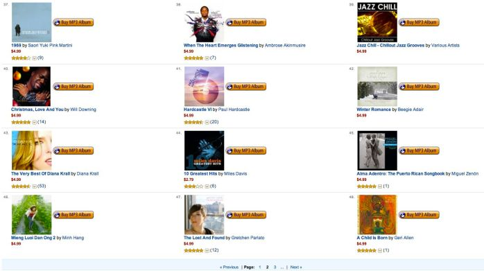 Amazon MP3 Store Mega Deals