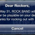 Rock Band Shutdown