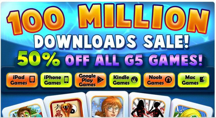 G5 50pct off sale