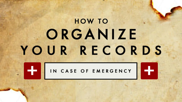 How to organize your records