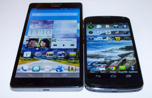 Huawei Ascend Mate with the LG Nexus 4