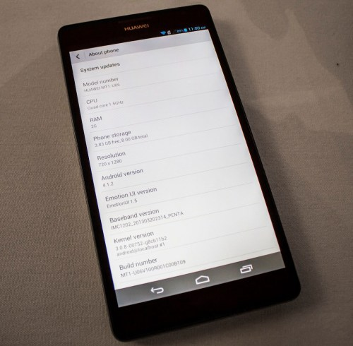 The Huawei Ascend Mate can be used even with gloves on.