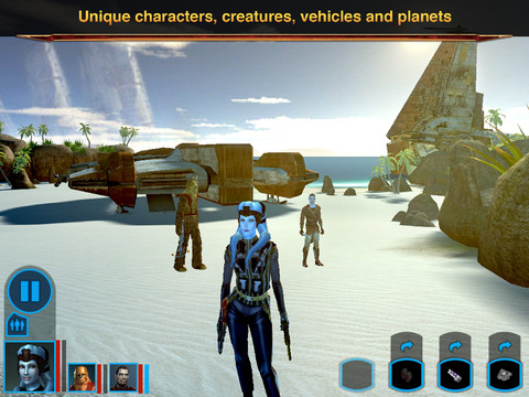 Stars Wars Knights of Old Republic iPad 06