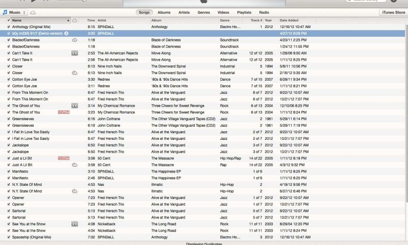 iTunes Find Exact Duplicates2