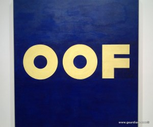 Edward Ruscha's OOF painting