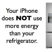 Your iPhone Does NOT Use More Power Than a Fridge