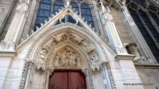 One of Notre Dame Cathedral's side doors