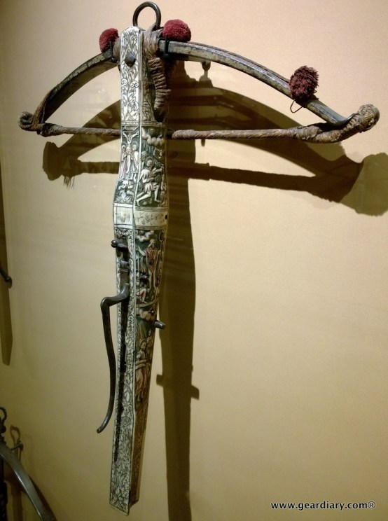 A very ornate crossbow