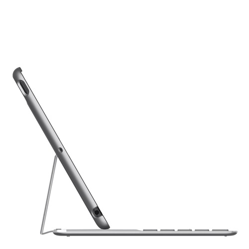 Belkin Qode Ultimate Keyboard iPad Air silver side