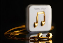 Happy Plugs 18K Solid Gold In-Ear Earphones