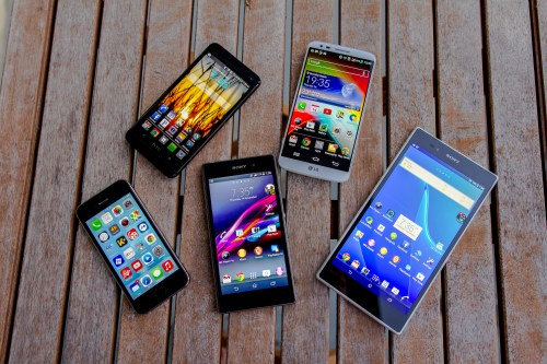 Sony Xperia Z Ultra, iPhone 5S, HTC One, LG G2, Xperia Z1