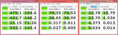 CrystalDiskMark Examples