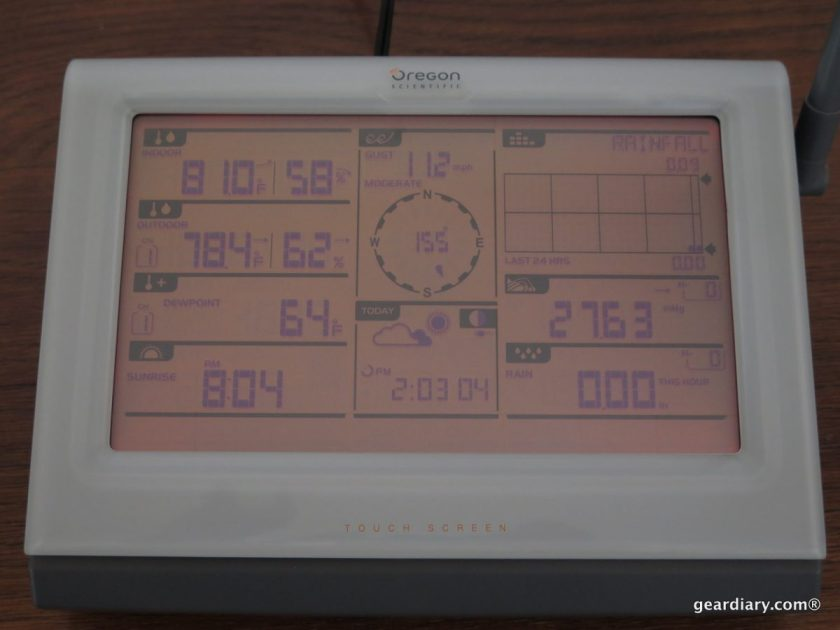 Gear Diary Oregon Scientific Ultra Precision Professional Weather Station WMR300-026