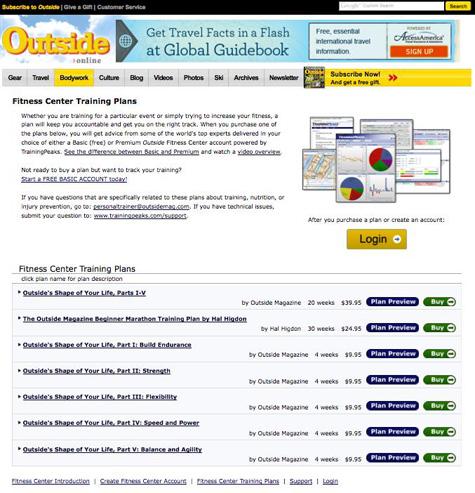 Outside\u0027s Online Fitness Plan GearJunkie