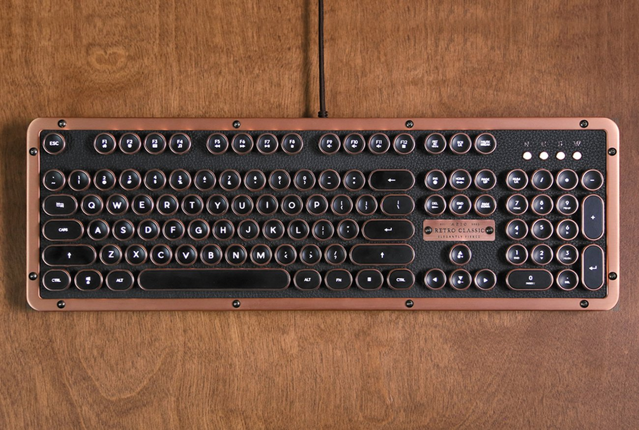 Vintage Computer Keyboards Azio Retro Classic Bt Review This Vintage Mechanical