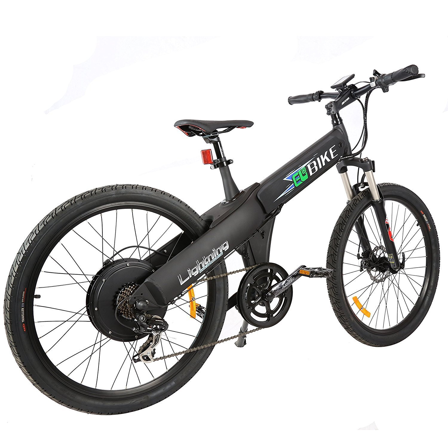 E On Electric E Go Electric Bike Matt Black Electric Bicycle Mountain