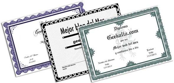 Páginas para diseñar, crear e imprimir diplomas gratis online