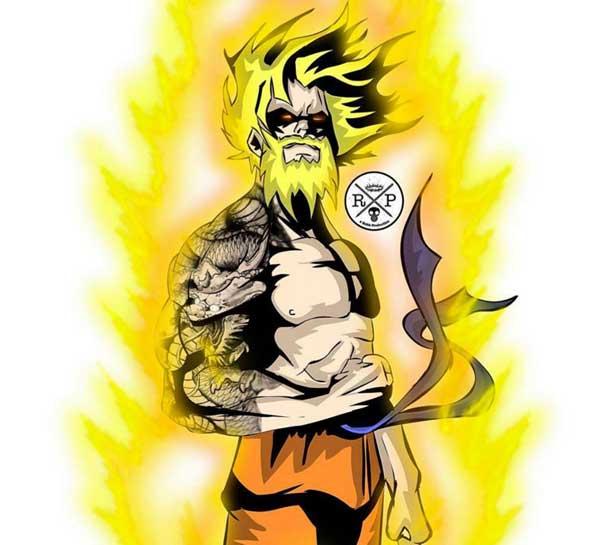 Animated Dragon Wallpaper Goku Barba Geekalia Com