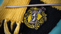 Knit Yourself a Hogwarts House Scarf (With a Crochet ...