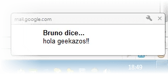 Notificacion de Google Chrome
