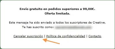 Cancelar subscripción
