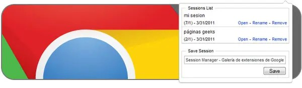 Session Manager para Chrome