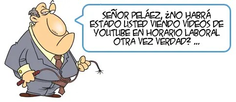 Prohibido ver YouTube en el curro!
