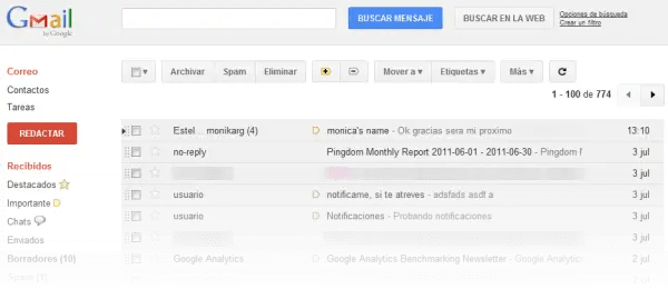 Estilo de Gmail adaptado a los nuevos tiempos