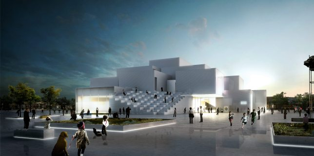Concept image for the Lego House in Billund, Denmark, courtesy The Lego Group