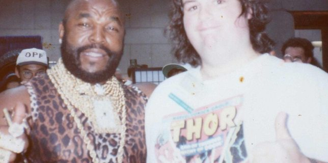 The author with Mr.T. Some years ago. (Photo: Bob Calhoun)