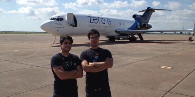 "Mandatory ""cool guys in front of plane"" shot."