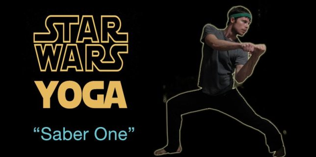 Star Wars Yoga - Saber One pose