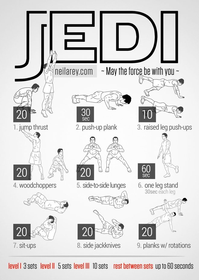 Neila Rey's Jedi Workout: 9 Bodyweight Exercises