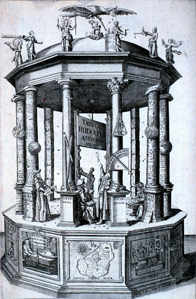 Frontispiece of the Rudolphine Tables by Johannes Kepler. Image: Public Domain