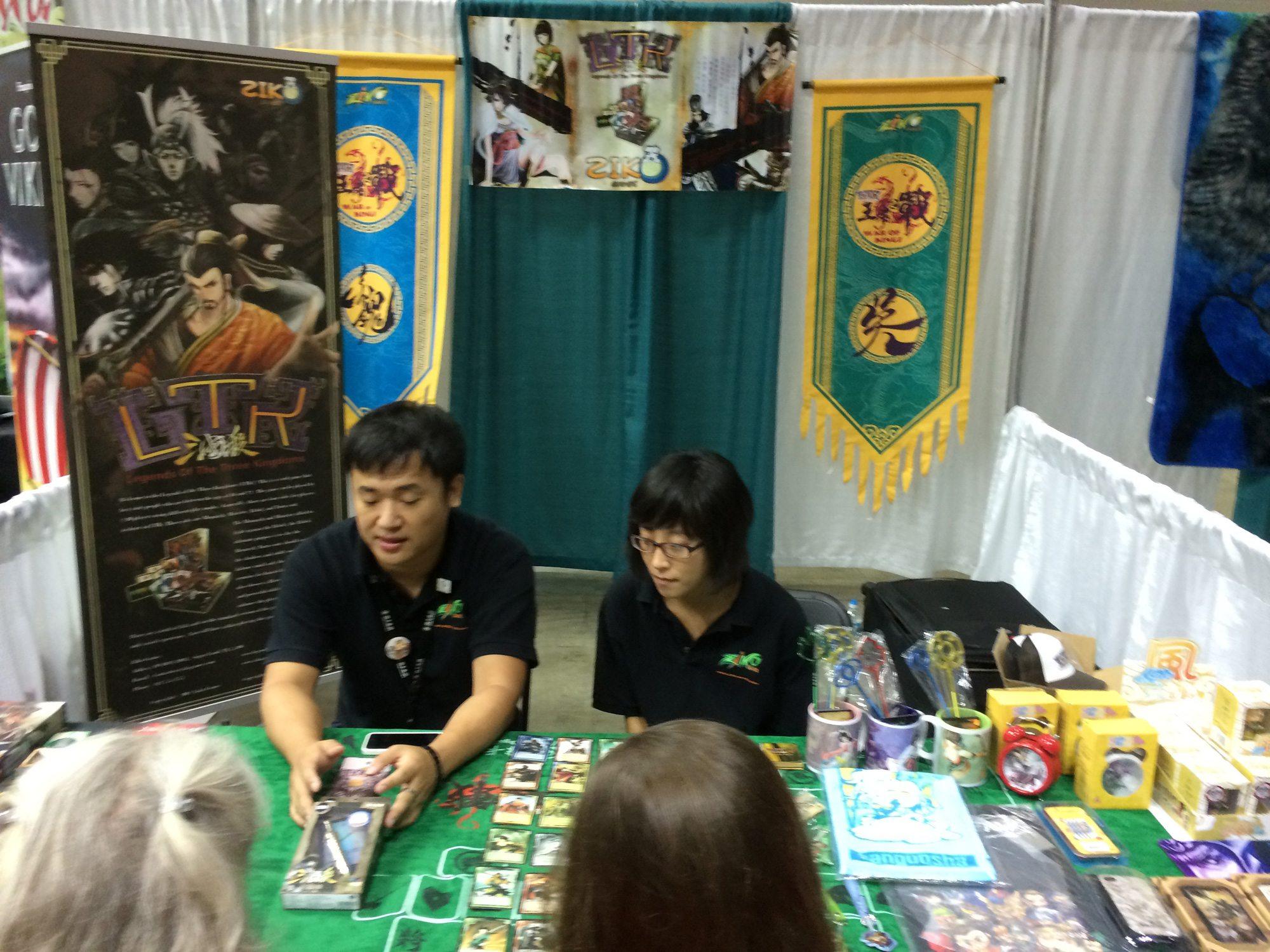 Ziko Games mostrando el juego LTK en las Gen Con 2014