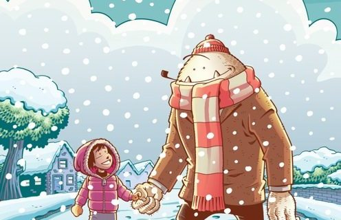 Abigail and the Snowman #1; cover art by Roger Langridge.