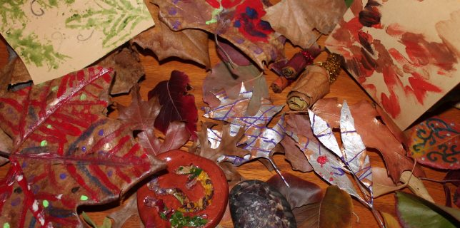 Autumn leaves are like works of art on their own, making them favorite art mediums for crafters during the season. All images by Lisa Kay Tate.